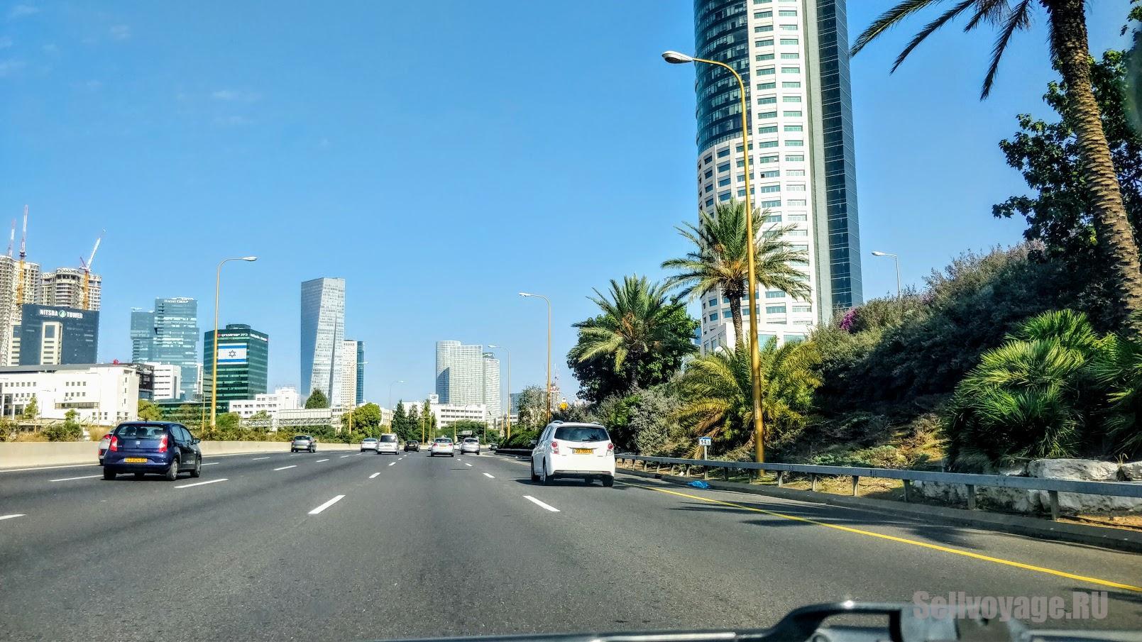 Дорога в центре Тель-Авива