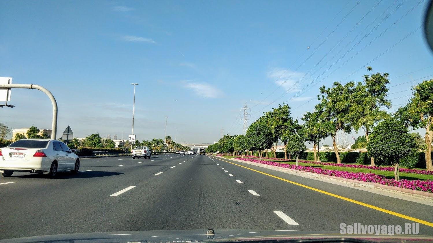 Дубай на арендованном авто. Дорога из аэропорта