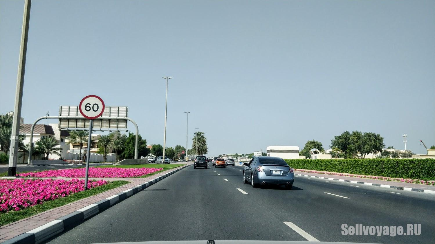 ограничение скорости в Дубае 60 км в час